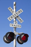 Railroad Crossing Sign royalty free stock image