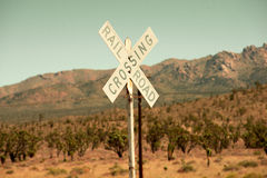 Railroad crossing sign Stock Image