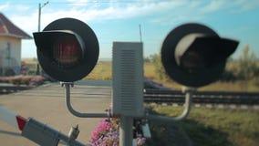Railroad crossing stock video