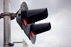 Railroad crossing signal Royalty Free Stock Image