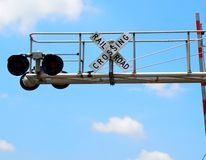 Railroad crossing signal Stock Image