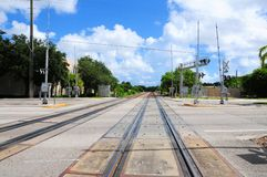 Railroad crossing signal, South Florida Stock Image