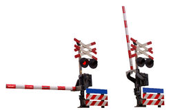 Railroad crossing signs Stock Photos