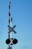 Railroad Crossing Stock Photo