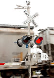 Railroad Crossing Stop Stock Image