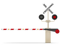 Railroad crossing vector illustration. On white background vector illustration