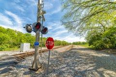 Railroad Crossing Warning Equipment Stock Image