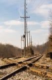 Railroad crossroads. Stock Photos