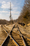 Railroad crossroads. Stock Images