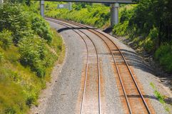 Railroad curve Stock Photography