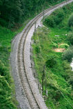 Railroad curve Royalty Free Stock Image