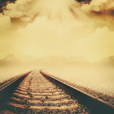 Railroad through the dead valley Royalty Free Stock Image