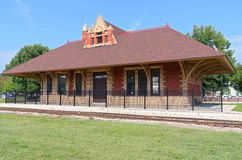 Railroad Depot in Whitewater Stock Image
