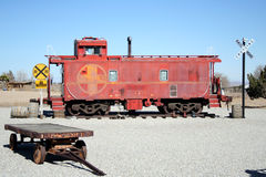 Railroad display. With red caboose Royalty Free Stock Image