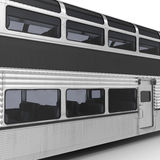 Railroad Double Deck Lounge Car on white. 3D illustration. Railroad Double Deck Lounge Car on white background. 3D illustration Stock Photo