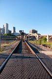 Railroad into Downtown Saint Paul Stock Photography