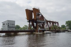 Railroad Drawbridge Stock Photo