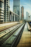 Railroad in Dubai Stock Image