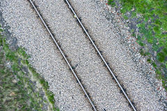Railroad embankment. A railroad embankment view from top Stock Photos
