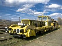 Railroad engine. In Avrig station (Romania Stock Photo