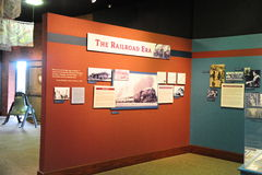 The Railroad Era Exhibit at the Train depot, Helena Arkansas. Royalty Free Stock Images