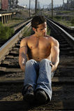 Railroad Fitness Stock Photo