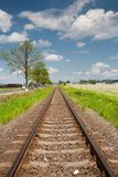 Railroad going into the distance Royalty Free Stock Photography