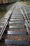Railroad going to the perspective of sunny days.  stock photos