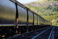 Railroad hopper cars Royalty Free Stock Images