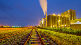 Railroad Industrial Chemical area Royalty Free Stock Photography