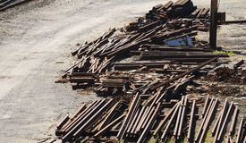 Railroad Industry Scrap Metal Piles Royalty Free Stock Photo