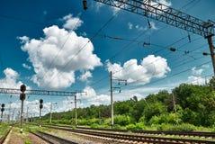 Railroad infrastructure Stock Photos