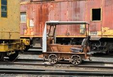 Railroad inspection  motor car Stock Image