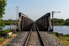 Railroad in Kampot, Cambodia Oct 2015 Royalty Free Stock Images