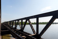 Railroad in Kampot, Cambodia Oct 2015. Railroad Kampot, Cambodia during summer stock photo