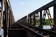 Railroad in Kampot, Cambodia Oct 2015. Railroad Kampot, Cambodia during summer stock image