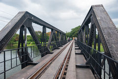Railroad kanchanaburi. Bridge water thailand Royalty Free Stock Photos