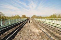 Railroad la passerelle Image libre de droits