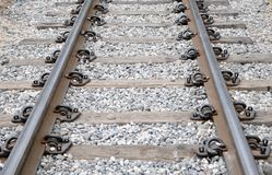 Railroad la prospettiva di modo ed il ciottolo, viaggio concettuale Immagini Stock Libere da Diritti