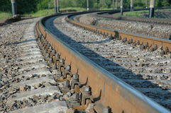 Railroad las vueltas a la derecha imágenes de archivo libres de regalías