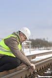 Railroad le travailleur image stock