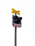 Railroad Level Crossing Sign Stock Photography