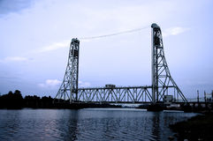 Railroad Lift Bridge Royalty Free Stock Photo