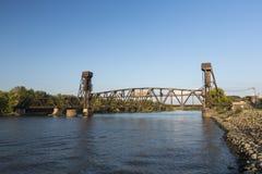 Railroad Lift Bridge Stock Photos