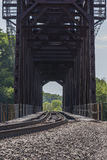 Railroad Lift Bridge Royalty Free Stock Photography