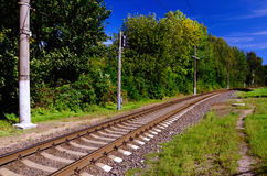 Railroad Line Going into the Distance Stock Photography