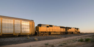 Railroad locomotive stock image
