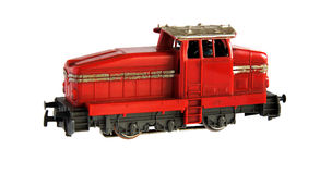 Railroad locomotive model Royalty Free Stock Photo