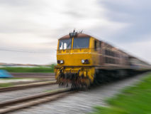 Railroad locomotive traveling in Thailand Stock Photo