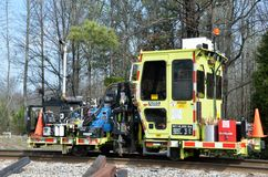 Railroad maintenance equipment Stock Image